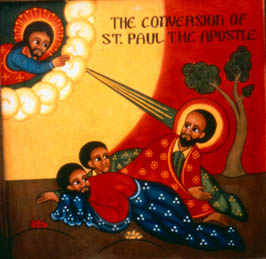 The Conversion of St. Paul, Ethiopian iconography