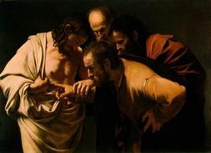 """Doubting Thomas"", Caravaggio, c 1603"