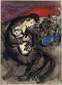 Weeping of Jeremiah, Marc Chagall, 1956, France