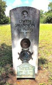 Gravestone of Owen Shannon (1762-1839), Old Methodist Cemetery, Montgomery, TX (my great-great-great-great grandfather)
