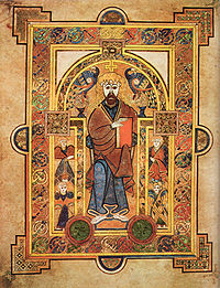"Christ the King, illustration from ""The Book of Kells"""