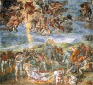 """The Conversion of Saul"", Michelangelo, 1542-1545, Frescoes, Pauline Chapel, Vatican, Italy"