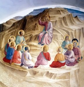 """""""The Sermon on the Mount"""", Fra Angelico, 1436-1443, Fresco, Museo di San Marco, Florence, Italy"""