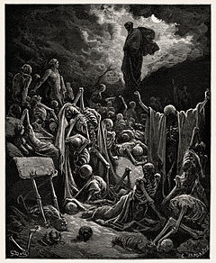 The Vision of the Valley of Dry Bones, Gustave Dore', 1866