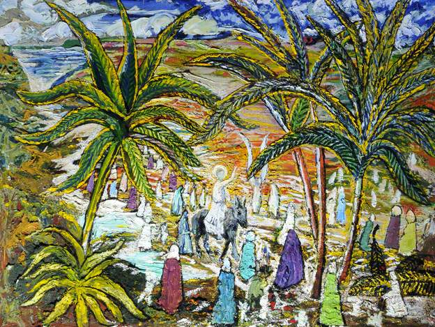 """Palm Sunday"", Sir Francis Ferdinand Maurice Cook, 1967, Sir Francis Cook Gallery"