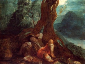 """Jacob's Dream"", Adam Elsheimer, 1600"