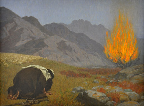 Moses and the Burning Bush, Gebhard Fugel, 1920, Public domain