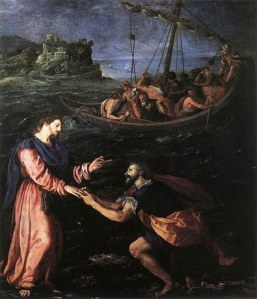 Peter Walking on the Water, Allessandro Allori, ca. 1590