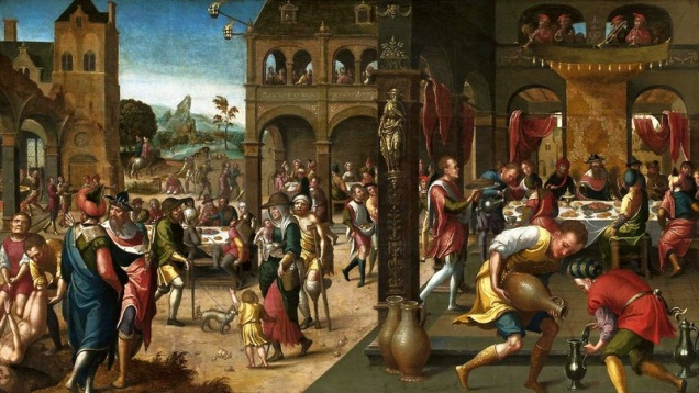 """Parable of the Great Banquet"", Brunswick Monogrammist, c. 1525, National Museum in Warsaw, Poland"