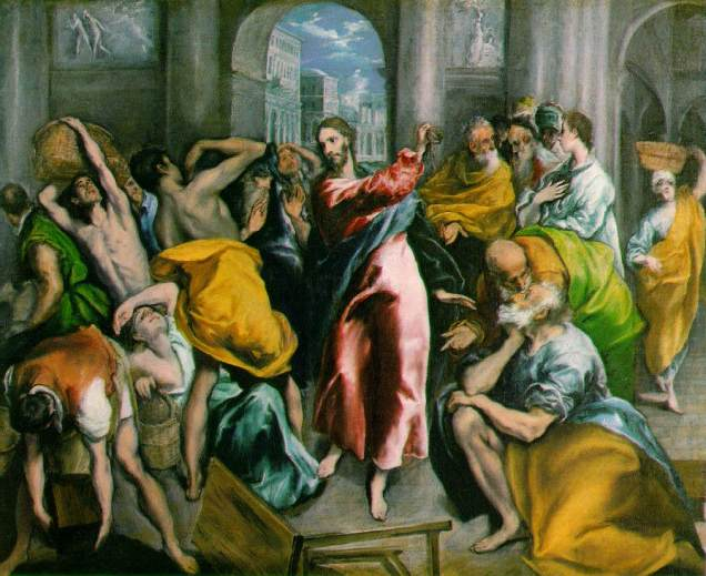 jesus drives out the- money-changers