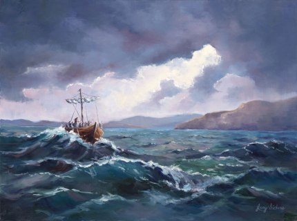 """Storm Before the Calm"", Lucy Dickens at www.lucydickensfineart.com"